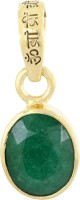 Nirvana Gems 8.25 Ratti Mantra Enhanced Natural Emerald Stone Pendant