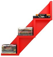 View craftspoint MDF Wall Shelf(Number of Shelves - 3, Red) Furniture (Craftspoint)