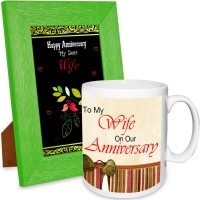 AlwaysGift Happy Anniversary My Dear Wife Hamper Mug Gift Set