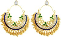 Spargz Indian Traditional Party Wear Earrings Diamond Brass Chandbali Earring