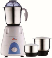 Bajaj 410176 500 W Mixer Grinder(White, Black, 3 Jars)
