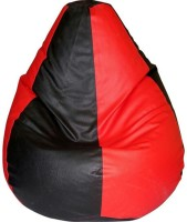 View ShopSpree XL Bean Bag Cover  (Without Beans)(Red, Black) Furniture