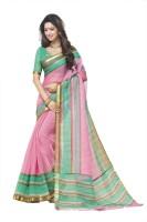Gugaliya Printed Chanderi Cotton Saree(Multicolor)