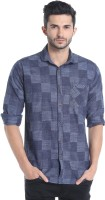 Campus Sutra Men's Checkered Casual Blue Shirt