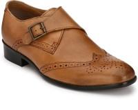 Afrojack 100 % genuine leather Monk Strap For Men(Tan)