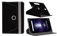 Jkobi Flip Cover for Lava E-Tab Xtron+PLUS(Black, Leather)