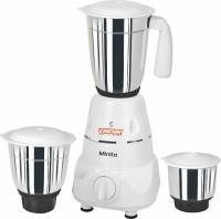 Kanchan Minito 500 W Mixer Grinder(White, 3 Jars)