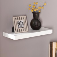 View Onlineshoppee Flotante 24 Inches MDF Wall Shelf(Number of Shelves - 1, White) Furniture (Onlineshoppee)