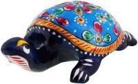 Halowishes Pure Brass Tortoise Enamel Work Gift Handicraft Decorative Showpiece  -  2.5 cm(Brass, Multicolor)