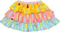 Always Kids Printed Girls Tiered Multicolor Skirt