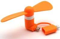 View QAWACHH USB Fan(Orange) Laptop Accessories Price Online(QAWACHH)