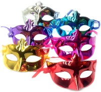 KidsTab Shining Party Mask Birthday eye gear eyewear Party Mask(Multicolor, Pack of 6)