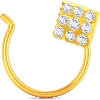 Karatcraft 9 Stone 18kt Cubic Zirconia Yellow Gold Nose Wire