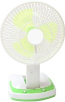 View Aqua Fresh JY SUPER 5590 Powerful Rechargeable Fan with 21SMD LED lights 3 Blade Table Fan(Multicolor) Home Appliances Price Online(Aqua Fresh)