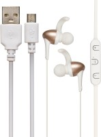 ZYDECO Wireless Bluetooth Headset with Mic(Gold, White, In the Ear)