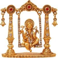 Art N Hub God Ganesh / Ganpati / Lord Ganesha Idol - Statue Gift item Showpiece  -  7 cm(Brass, Gold)