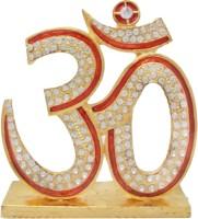 Art N Hub Lord Shiva Symbol OM Sign Idol - Gold Plated Handicraft Decorative Home / Table Décor / Car Dashboard God Statue Gift item Decorative Showpiece  -  7 cm(Brass, Gold, Multicolor)