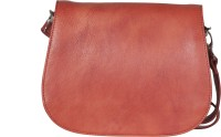 FARO Women Maroon Genuine Leather Sling Bag