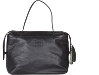 FARO Women Black Genuine Leather Shoulder Bag
