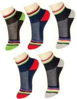 Neska Moda Boys & Girls Checkered Ankle Length(Pack of 5)