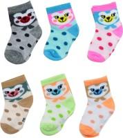 Neska Moda Baby Boys & Baby Girls Polka Print Ankle Length Socks(Pack of 6)