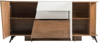 Durian CRISPUS Engineered Wood Crockery Cabinet(Finish Color - Walnut/White Lacquer)