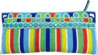 KAWAII Blue Multi Beaded Zipper Pouch(Multicolor)