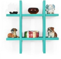 View The New Look Plus Style Shelf Wooden Wall Shelf(Number of Shelves - 2, Blue) Furniture (The New Look)
