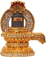 Art N Hub Lord Shiva Shivling / Shivlinga Idol Pooja God Statue Gift Item Showpiece  -  5 cm(Brass, Gold)