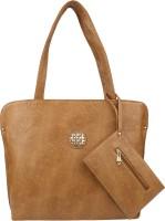 Pink Rose Shoulder Bag(Brown)