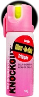 Knockout Champ With Glow-In-Dark Trigger Pepper Stream Spray