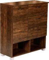 DeckUp Versa Engineered Wood Cupboard(Finish Color - Wenge Matte)