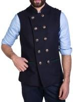 Mr Button Sleeveless Solid Men's Jacket thumbnail