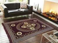 Aazeem Multicolor Velvet Carpet(152 cm X 218 cm)