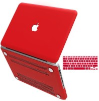 View Shopizone Red Rubberized Hard Shell case with keyboard skin for Macbuk Pro 13