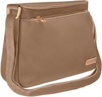 Tap Fashion Women Beige PU Shoulder Bag