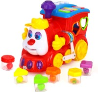 Miss & Chief Smart Q & A Cartoon Train with Music & Light(Multicolor)