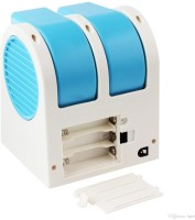 View Stargale Portable Mini Air Conditioner Dual-Port Bladeless USB Fan(Blue) Laptop Accessories Price Online(Stargale)
