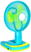 View Grind Sapphire JY-5590, JY Super Rechargeable fan with Led Light 3 Blade Table Fan(Multi Color) Home Appliances Price Online(Grind Sapphire)