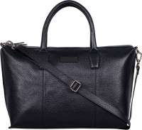 Justanned Women Black Genuine Leather Tote