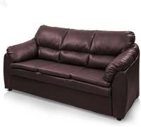 View Comfy Sofa Classy Leatherette Sectional Maroon Sofa Set(Configuration - Straight) Furniture (COMFY SOFA)