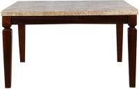 HomeTown Bliss Stone 8 Seater Dining Table(Finish Color - Beige & Brown)