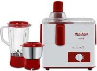 Maharaja Whiteline mark one 450 W Juicer Mixer Grinder(white and red, 2 Jars)