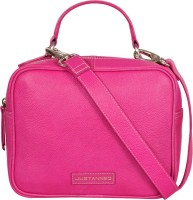 Justanned Women Pink Genuine Leather Sling Bag