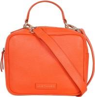 Justanned Women Orange Genuine Leather Sling Bag