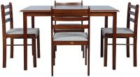 Parin Solid Wood 4 Seater Dining Set(Finish Color - brown)
