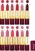 Rythmx Dry Matte Lipstick Combo Set Of 12 Pcs 114(48 g, Multicolor) - Price 1010 78 % Off