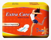 ExtraCare Heavy Flow Sanitary Pad(Pack of 7) - Price 55 31 % Off
