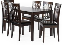 FurnCulture Trentino Solid Wood 6 Seater Dining Set(Finish Color - cappuccino)