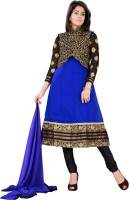 Florence Georgette Embroidered Salwar Suit Dupatta Material(Un-stitched)
